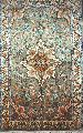 KASHMIR SILK CARPET HAND KNOTTED, TURQUOISE