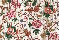Silk Crewel Embroidered Fabric Gold, Multicolor