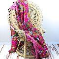 Traditional Kantha Handwork Bedspread Floral Printed Kantha Quilt