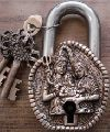 Door PadLock carved with Lord shiva Parvati