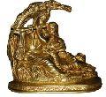 Radha-Krishna Brass metal Statue