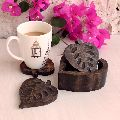 Wooden Tea Coaster Holder