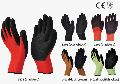 Nylon or Polyestore Gloves with Crinkled Latex Coating (flexee-grip)