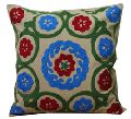 embroidery work cotton cushion cover