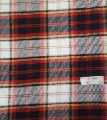 red plaid flannel fabric