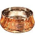 Steel Copper Curved Design Bowl