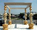 Decor Savvy Standing Lady with Matka, Traditional Mandap for Wedding Decor