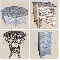 antique camel bone mother of pearl inlay furniture handicrafts