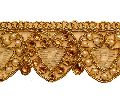 Embroidered Tissue Fabric Cording Beaded Lace