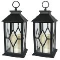 Antique candle lanterns