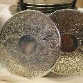 Custom Logo Premium Metal Stainless Steel Brass Metal Coaster