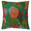 Embroidered Kantha Cushion Cover