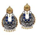 Designer Silver Kundan Polki Earrings