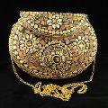 Elegant Metal Mosaic Clutch Purse
