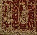 Vintage indian pure cotton saree hand beaded maroon fabric bandhani ethnic sari