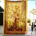 Cotton Handmade Tie Dyed Indian Wall Hanging Decor Tapestry-Craft Jaipur