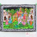 Cotton Hindu Religious Small Wall Hanging Decor Tapestry-Craft Jaipur