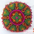 Decorative Handmade Suzani Embroidery Cushion Cover-Craft Jaipur