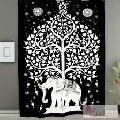 Elephant Tree of Life Tapestry Indian Wall Hanging Bedspread-Craft Jaipur