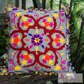 Embroidered Cushion Cover Suzani Indian Pillow Cases-Craft Jaipur