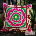 Embroidered Pillow Cases Suzani Cushion Cover Square-Craft Jaipur