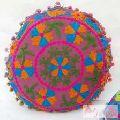 Handmade Cushion Cover Round Pillowcases Suzani Embroidery-Craft Jaipur