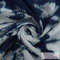Handmade Indigo Tie Dye Cotton Shibori Printed Running Fabric-Craft Jaipur