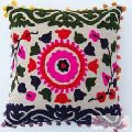 Home Decor Indian Suzani Cushion Covers Embroidery-Craft Jaipur