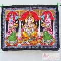 Lord Ganesha Wall Hanging Tapestry Small Poster Decorative-Craft Jaipur