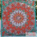 Orange Star Mandala Wall Hanging Tapestry Boho Bedspread