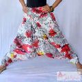 Printed Boho Yoga Casual Harem Pants Cotton Afghani Trousers-Craft Jaipur