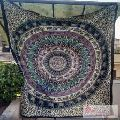 Queen Elephant Mandala Tapestry Indian Wall Hanging Bedspread