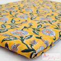 Wooden Block Print Natural Cotton Clothing Floral Fabric-Craft Jaipur