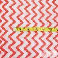 Zig Zag Block Printed Cotton Running Voile Clothing Fabric-Craft Jaipur