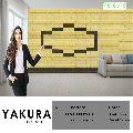 YAKURA SELF ADHESIVE FOAM WALL TILES (DIY) (Pastel Yellow & Khaki Grey)- Made In Korea