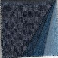 DENIM FABRIC of Cotton Poly Spandex, 8.5 ozs Dark INDIGO Stretch Twill