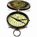 3 Flat Nautical Solid Brass Compass Black Flat Compass Pocket Compass