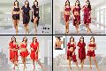 Fasense Women's Wrap Gown, Bra & Skirt