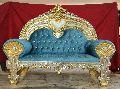 blue cloth sofa