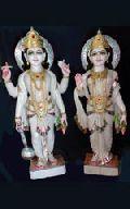Vishnu Laxmi Marble God Statue