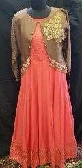 Muslin Gown & Jacket Set