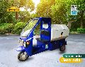 Battery operated garbage loader with load capacity up to 1 t