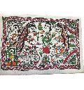 "Traditional Madhubani Painting Depicting ""Daily Chores"""