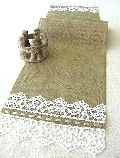 Woven Cotton Lacy Table Runner