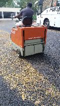 Battery Operated Road Sweeper For Parking Area