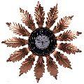 Designer Golden Petal Wall Clock