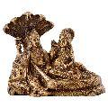 Lord Vishnu Laxmi Brass Statue