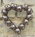 Handmade Wirework Glass Bubble Heart Wreath