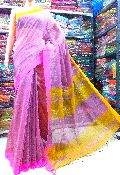 Handloom Silk Cotton Contrast Pallu Saree