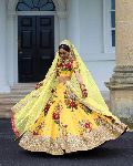 Fashmina Womens Designer Bridal Lehenga Choli And Dupatta-F-7019(B)